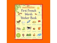 FIRST FRENCH WORDS STICKER BOOK USBORNE