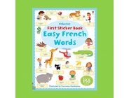 EASY FRENCH WORDS FIRST STICKER BOOK USBORNE