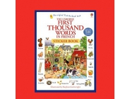 FIRST THOUSAND WORDS IN FRENCH STICKER BOOK USBORNE