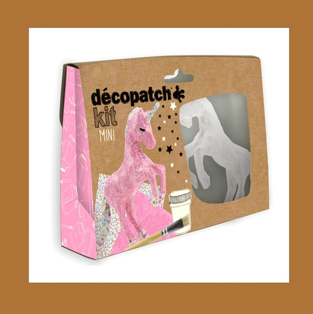 ZESTAW  DO DECOUPAGE JEDNOROŻEC DECOPATCH